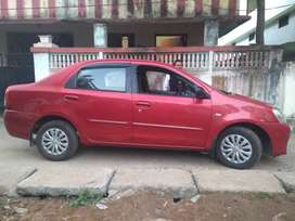 Red Toyota Etios in good running condition