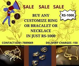 Coustimze Name Rings Earings and many more