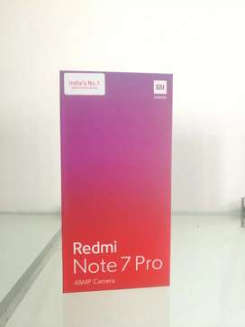 Redmi note 7 pro blue seal pack available