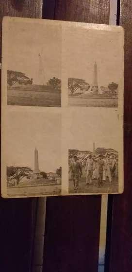 Kartu pos gambar tugu alun-alun malang 1950