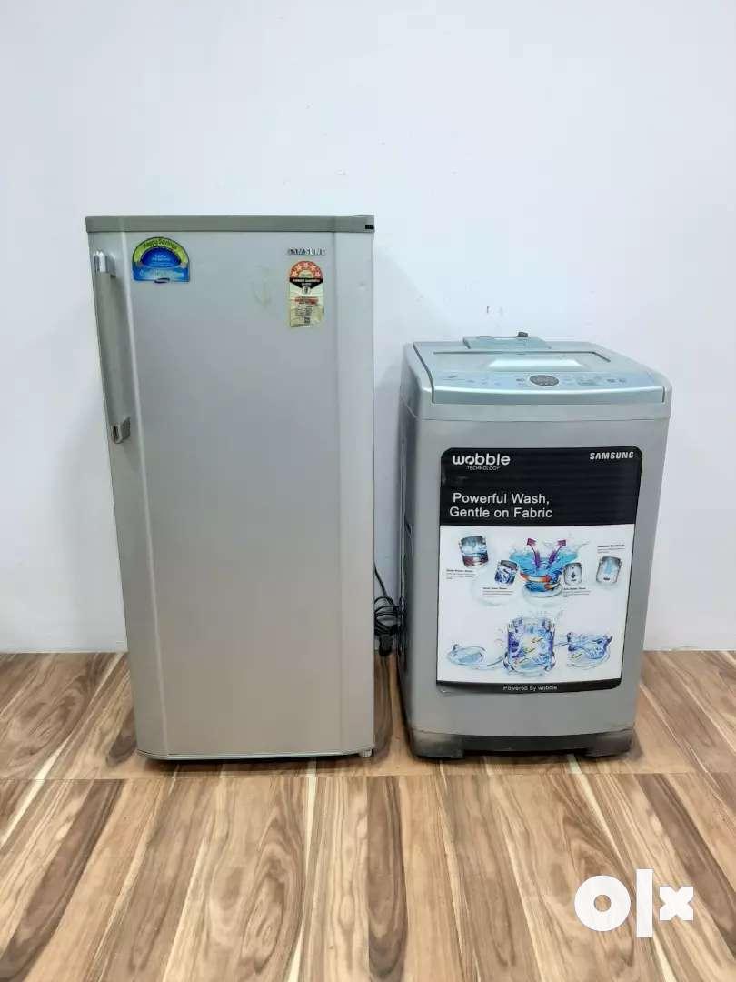 Samsung agplus topload  machine and Samsung single door 0