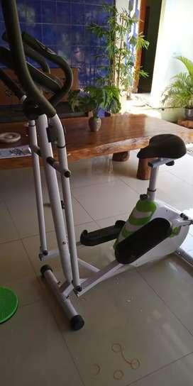 Sepeda fitnes jogging magnetik Best Eliptical dua fungsi