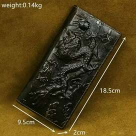 DOMPET BLACK DRAGON 3D KULIT ASLI