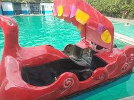 Perahu odong mainan gowes air odong full mobil DAP robocar fiber