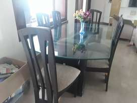 2 years old wooden dining table