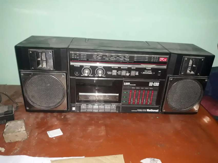 National Taperecorder with 3band radio. Made in japan. 0
