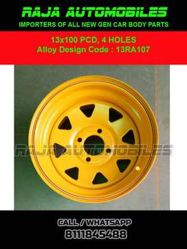13 Inch Steel Rim 13RA107 Set of 4 pce for Cars