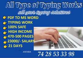 Earn Highest Income With Your Spare Time -- Typing Job