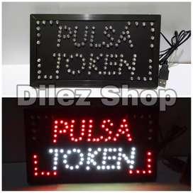 Lampu Merk USB Tulisan Jual Pulsa/Pulsa Token/Open