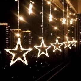 BINTANG BESAR Lampu Dekorasi Tumblr 2,5m Star LED Star