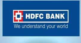 Urgent hiring for candidates in HDFC bank