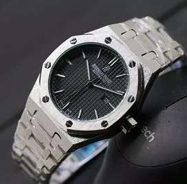 jam tangan audemars piguet silver black date mode on dm 42mm