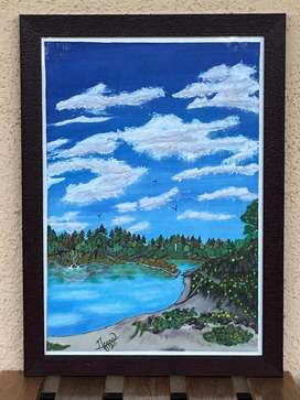 Hand painted canvas - 'Abundance'