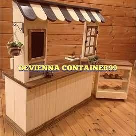 Jasa pembuatan booth jualan/booth usaha/booth kayu/booth custom