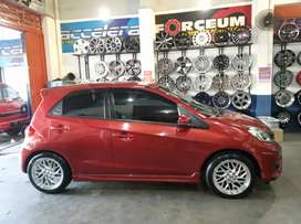 Velg hsr sepulu ring 16x7 h8 on honda brio