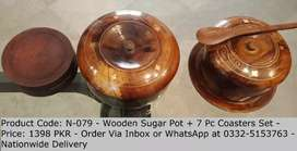 Tea coaster set and sugar pot