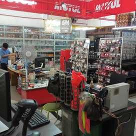 Sales counter bengkel dan toko
