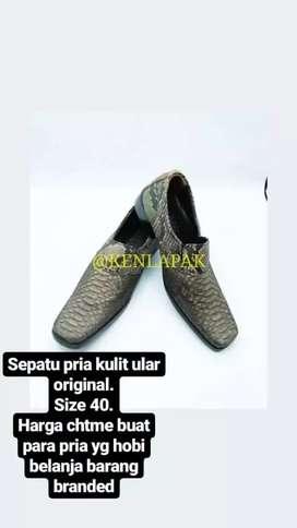Sepatu BAHAN kulit ular Original