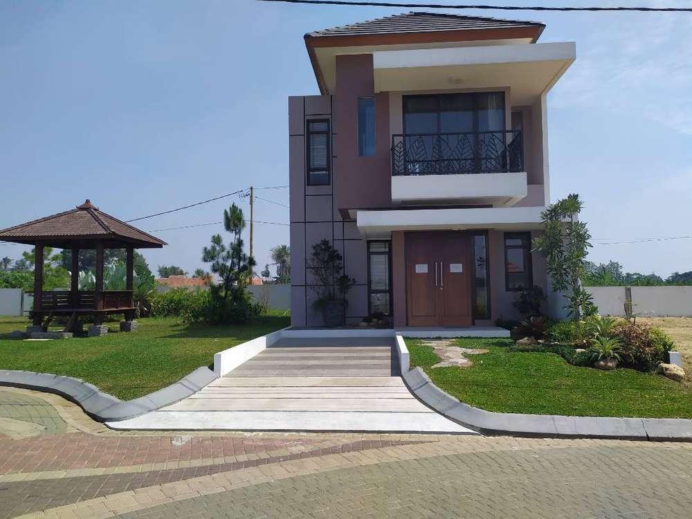 rumah 2 lantai harga 900jtan di bgr dkt sportclub di bali resort bogor