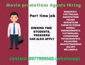 Movie promotions agents tollywood movie all areas part time work