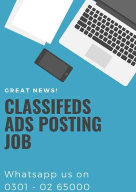 Earn weekly  - daily online part time job online ads posting job home