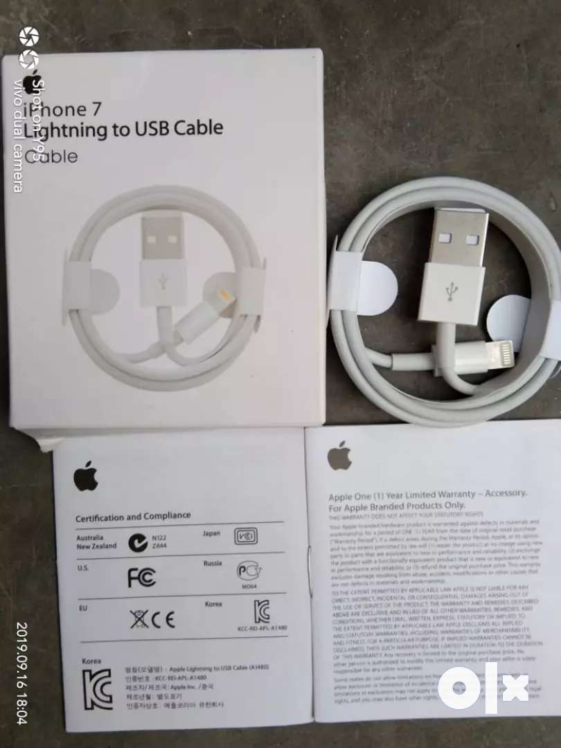 Brand new orignal certified apple iphone data cable with 1 yr warranty 0