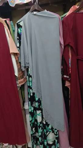 Gamis motif set jilbab