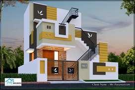 3BHK Villas for sale at Edayarpalayam road.