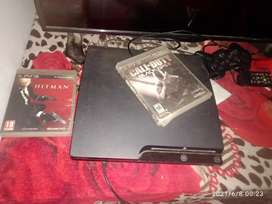 Ps3 machine  with 5 game