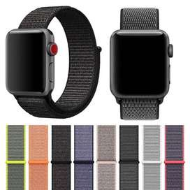 Woven Kain Nylon Loop Strap Sport Band For Apple Watch Size 38mm /40mm