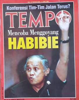 Majalah tempo cover Bj habibie