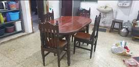 Teak wood sofa and dining table