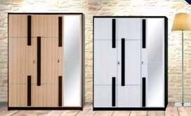 Lemari Pakaian 3P Full Kaca Activ Kofi LP 305 (138,8x41,8x180,5 cm)