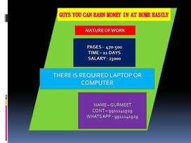 Providing job offers at home data entry field