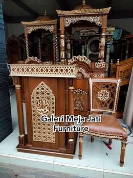 Mimbar masjid podium kualitas Ukir New J364 kode