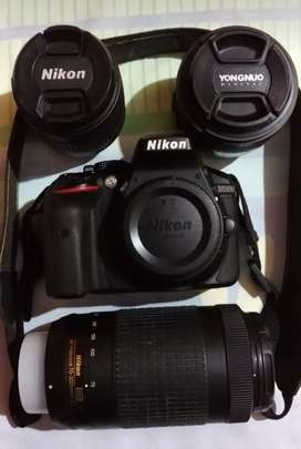 Nikon D5300 with 3lenses and accessories