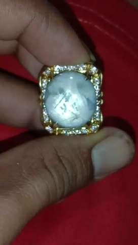 Natural white sapphire star