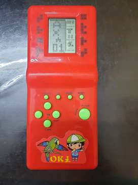 Retro game console with AA batteries