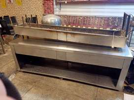 bar-b-que counter sets stainless steel table