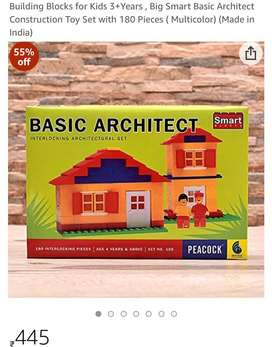 SALE! BUILDING BLOCKS TOY FOR KIDS WITH 180 pieces BASIC ARCHITECT SET