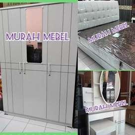 MURAH MEBEL Kamar Set Lemari Meja Rias Spring Bed