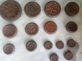 Coins and old weights