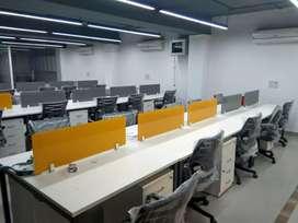 30 workstion 5 cabins furnished office for rent in Noida sec-62.63.64