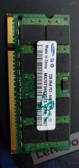 Laptop Ram 2gb Samsung module