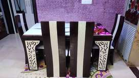 Shaagun woods dinning table with 6 chairs