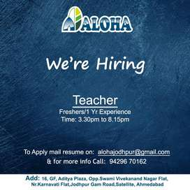 Urgently Looking for Female Teacher for Education Class