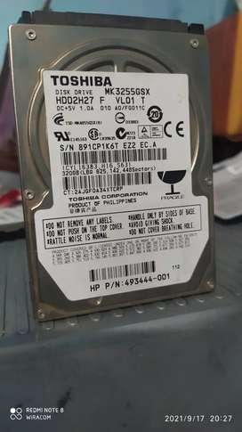 Hardisk Laptop Toshiba 320GB Siap pakai