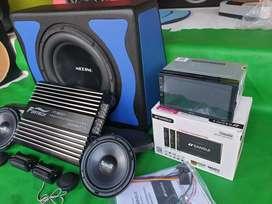 1 paket audio mobil murah meriah tinggal pasang d mobil (udin audio)