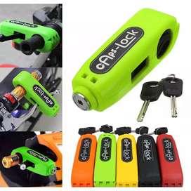 HS Grip Lock Grip Caps Lock Kunci Gembok Pengaman Sepeda Mo tor