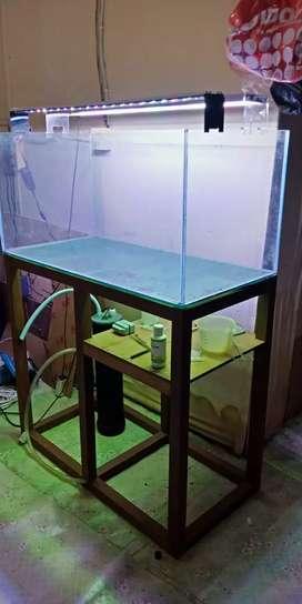 Aquarium set tinggal pakai